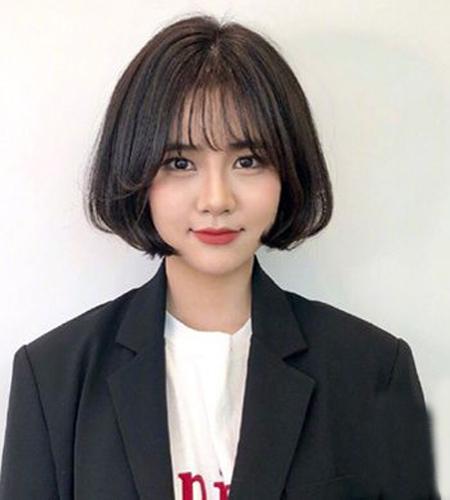韩式波波头短发发型,减龄百搭又瘦脸,快来pick一款图片