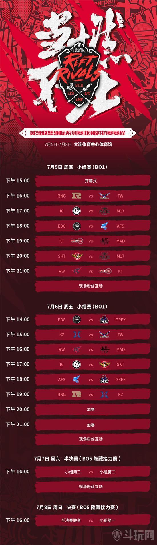 LOL洲际赛赛程汇总 2018亚洲对抗赛赛程时间表