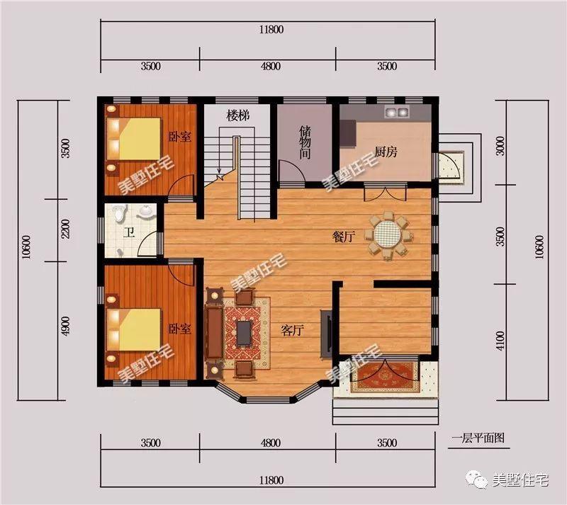 3套占地120平的农村别墅,每款都符合宅基地规定,真好!图片