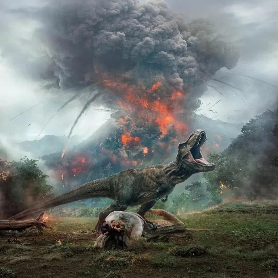 《侏罗纪世界2》幕后花絮:帕帕为拍水下戏份头发都掉色了