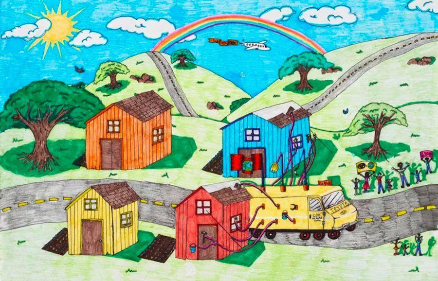 汽车 正文  丰田的梦想之车儿童绘画大赛到今年已举办了12届,关于未来图片