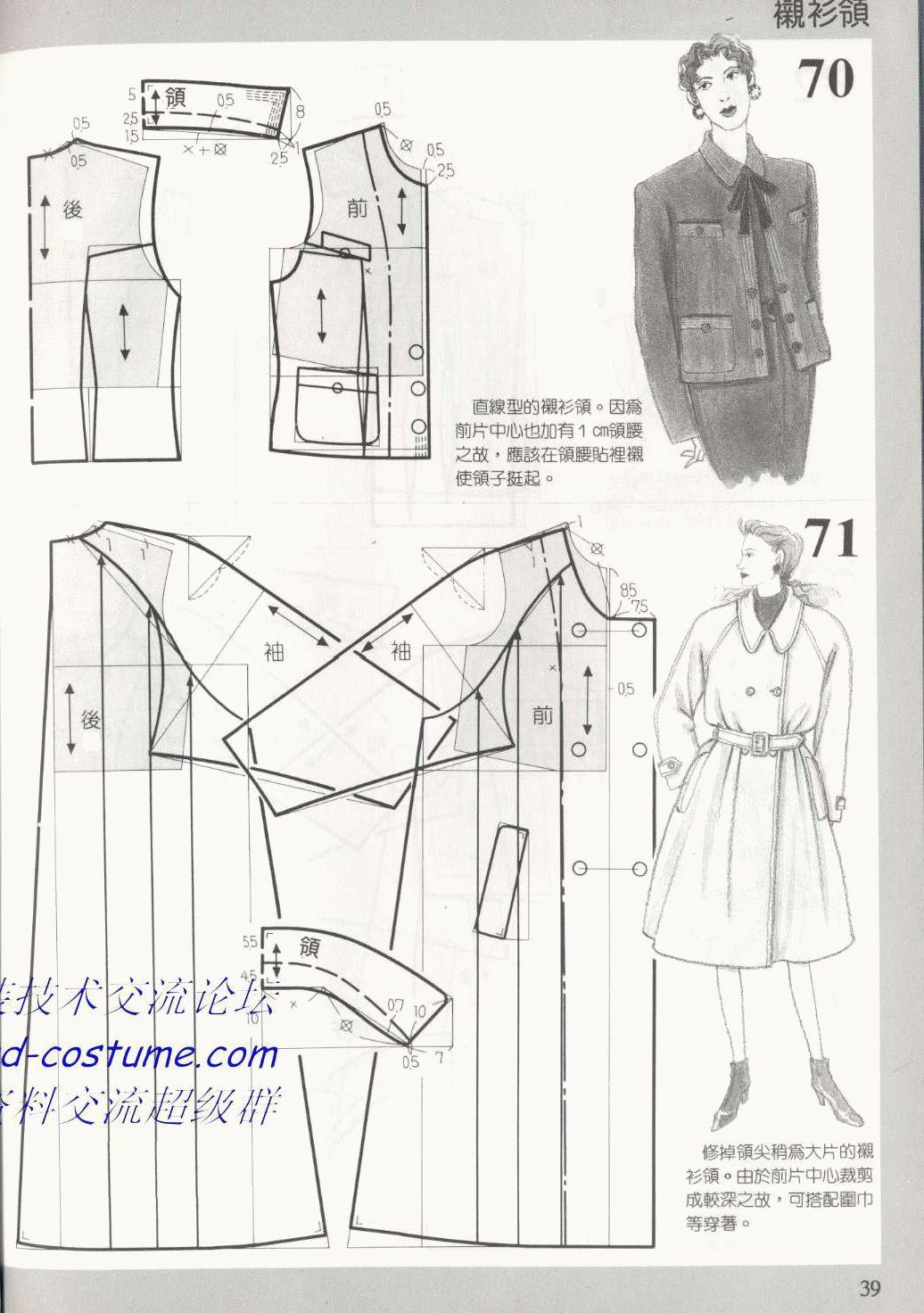 图纸集 188种领子的款式与图纸服装云教育