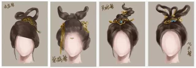 适用发型:凌虚髻,惊鹄髻,灵蛇髻,飞天髻图片