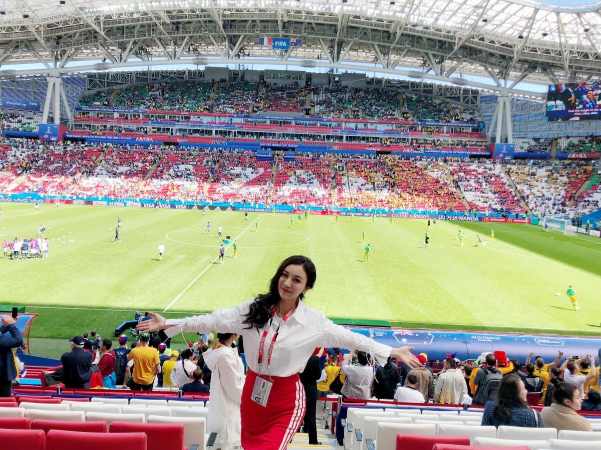 """盘点那些""""蹭""""俄罗斯世界杯热点的中国""""名媛"""