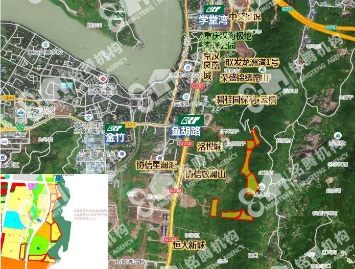 巴南区龙洲湾规划图  龙洲湾商圈巴南万达旁海洋公园旁临街一楼 巴南