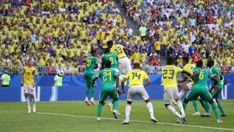 世界杯-米纳制胜球 哥伦比亚1-0送塞内加尔出局