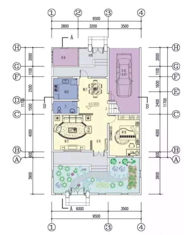 今天就给大家介绍几款带庭院的农村别墅户型,一起来看看.图片