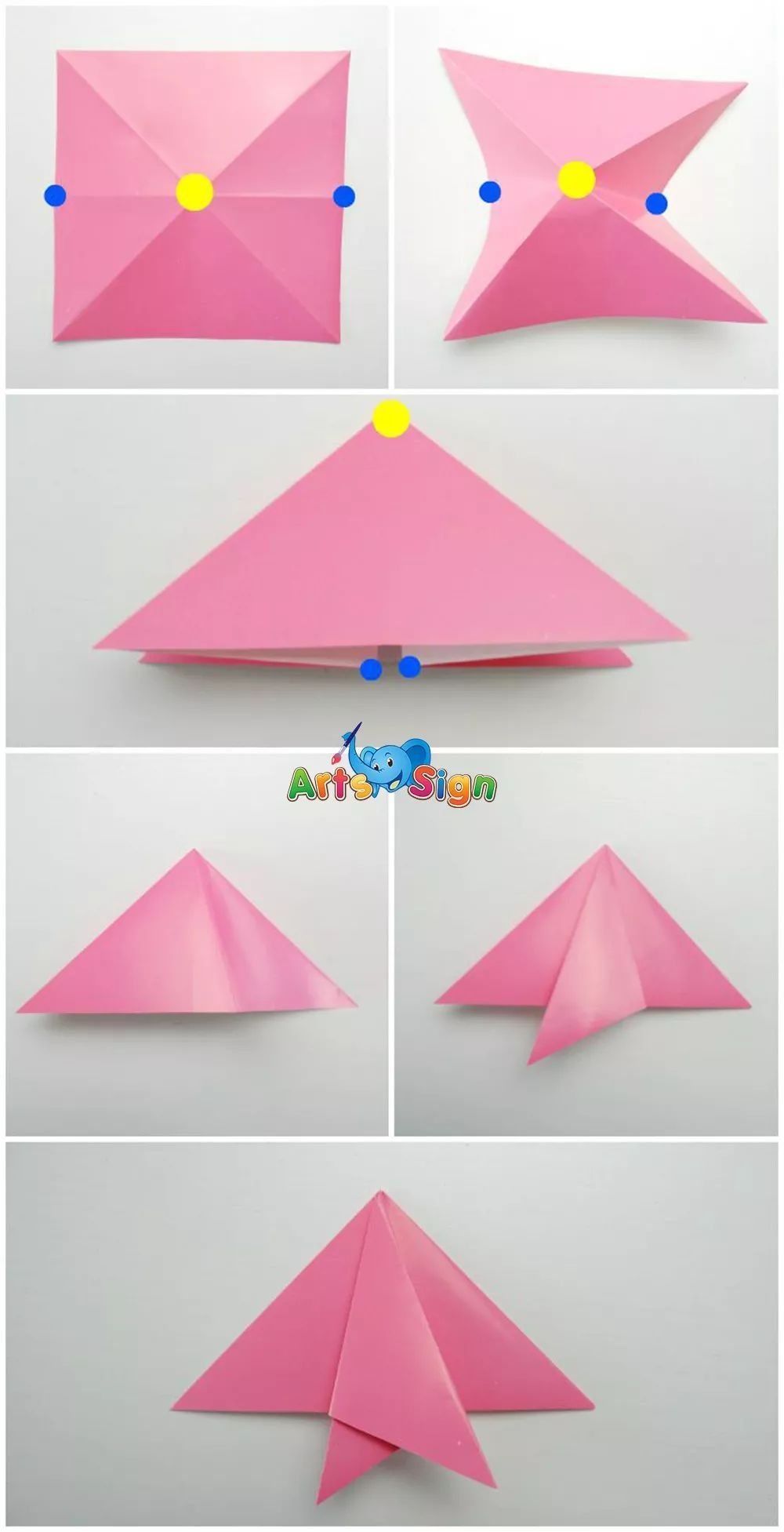 简单雨伞折纸步骤图解