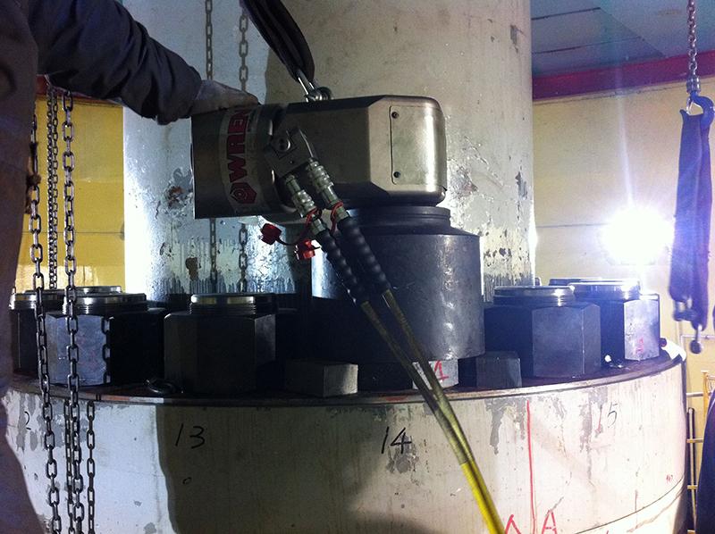 雷恩液压扳手在富春江水电站实际应用图片