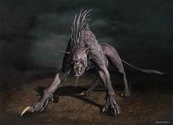 这木炭的炭化都不同,但大致上都有皮的怪物,大眼睛,外表,背上有刺.机制尖牙描写步聚图片