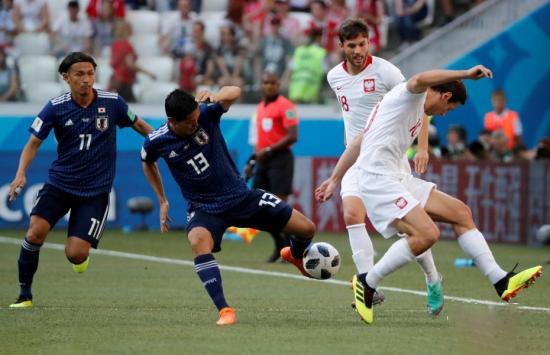 """俄罗斯世界杯16强产生,日本0-1负于波兰晋级但陷""""死亡半区"""""""