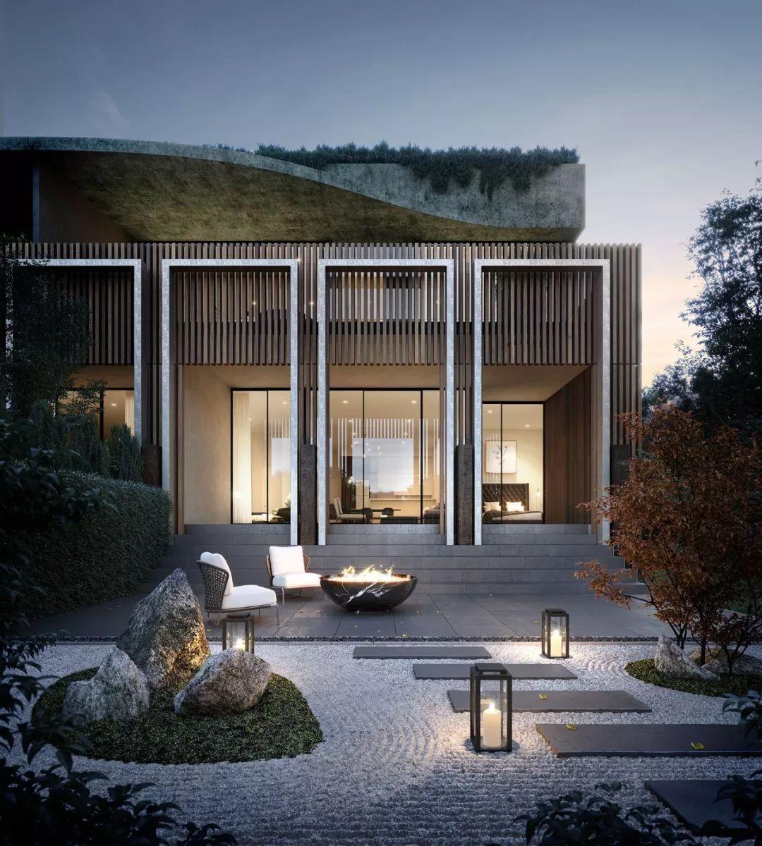 看看这些效果图,简约风豪宅就这样设计!