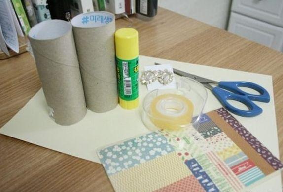 废卫生纸筒diy手工制作小巧的小礼盒教程