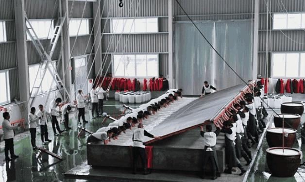 """11米""""超级宣纸"""", 在安徽""""宣纸之乡""""破纪录, 108道工序加工而成,书法,题字,题匾,名家,真迹,cntizi.com"""
