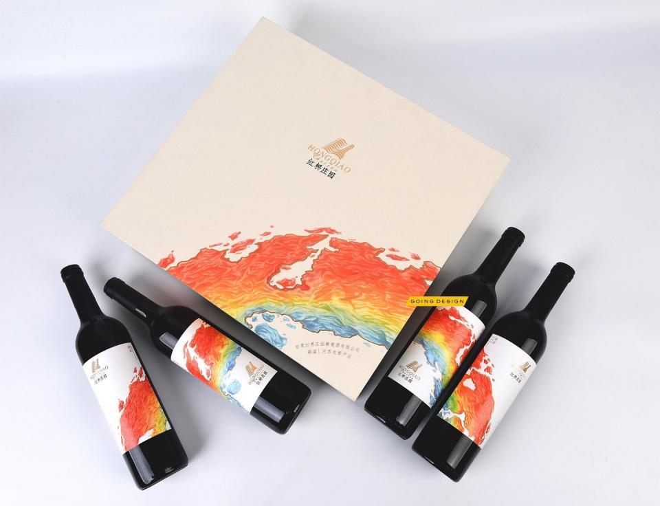 甘肃张掖红桥葡萄庄园品牌重塑及红酒产品包装设计图片