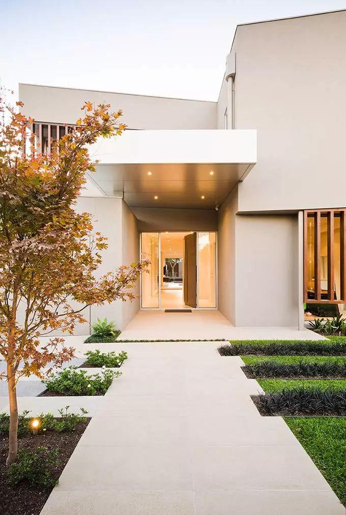 上海良工装饰宁波分公司 30款别墅入口设计真是美极了