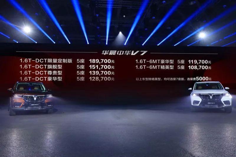 新车  |  售价10.87万元起  华晨中华V7上市  |  Y车评