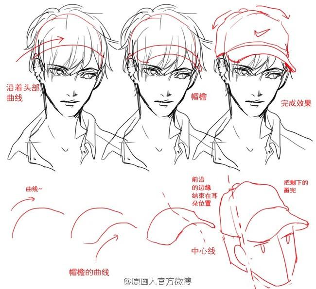 人物头部装饰物的画法,头盔,花环,帽子.等参考