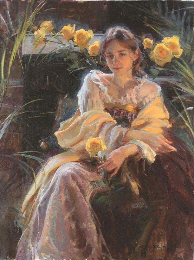 世界经典油画赏析_[转载]世界著名油画欣赏,世界名画里令人怦然心动迷恋的人物赏析!