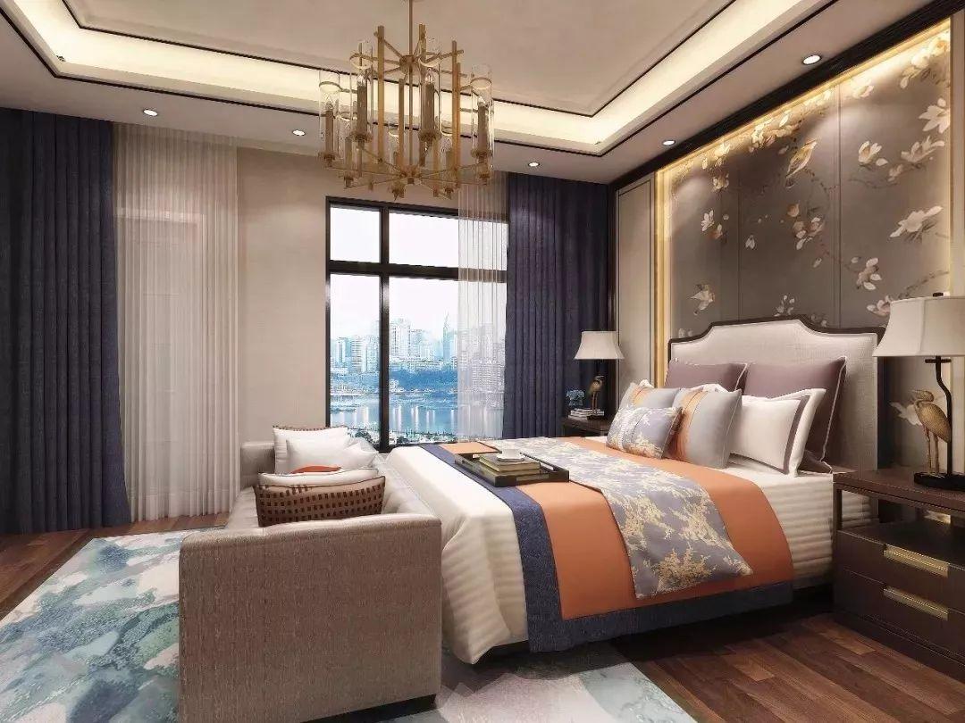 新中式卧室背景墙,只有更美没有最美!图片