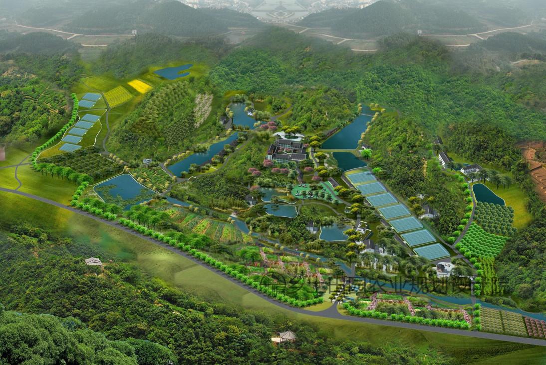 湖南五星级农庄-长沙锦绣江南生态农庄是如何规划设计图片