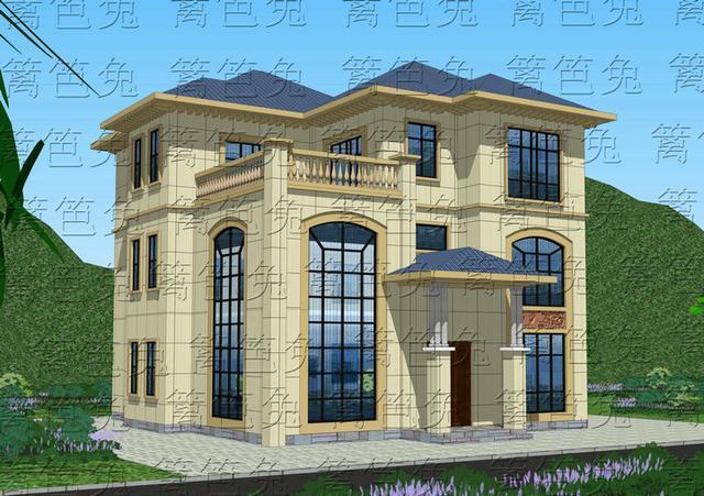 两套别墅都不过60万的a别墅自建城市附别墅效果图户型图造价的外观地位图片