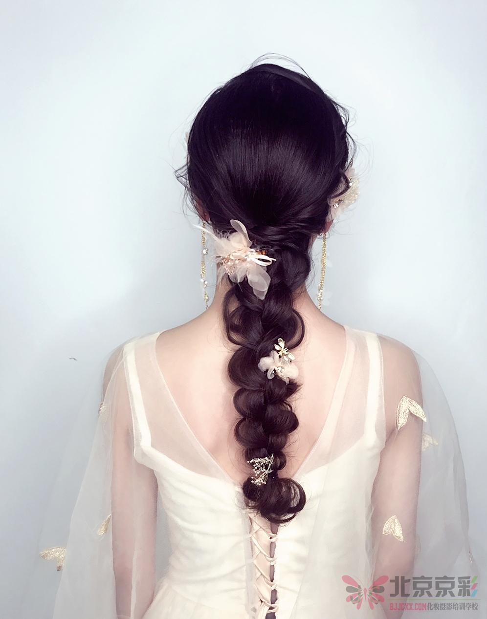 发型编发图片简单好看图片