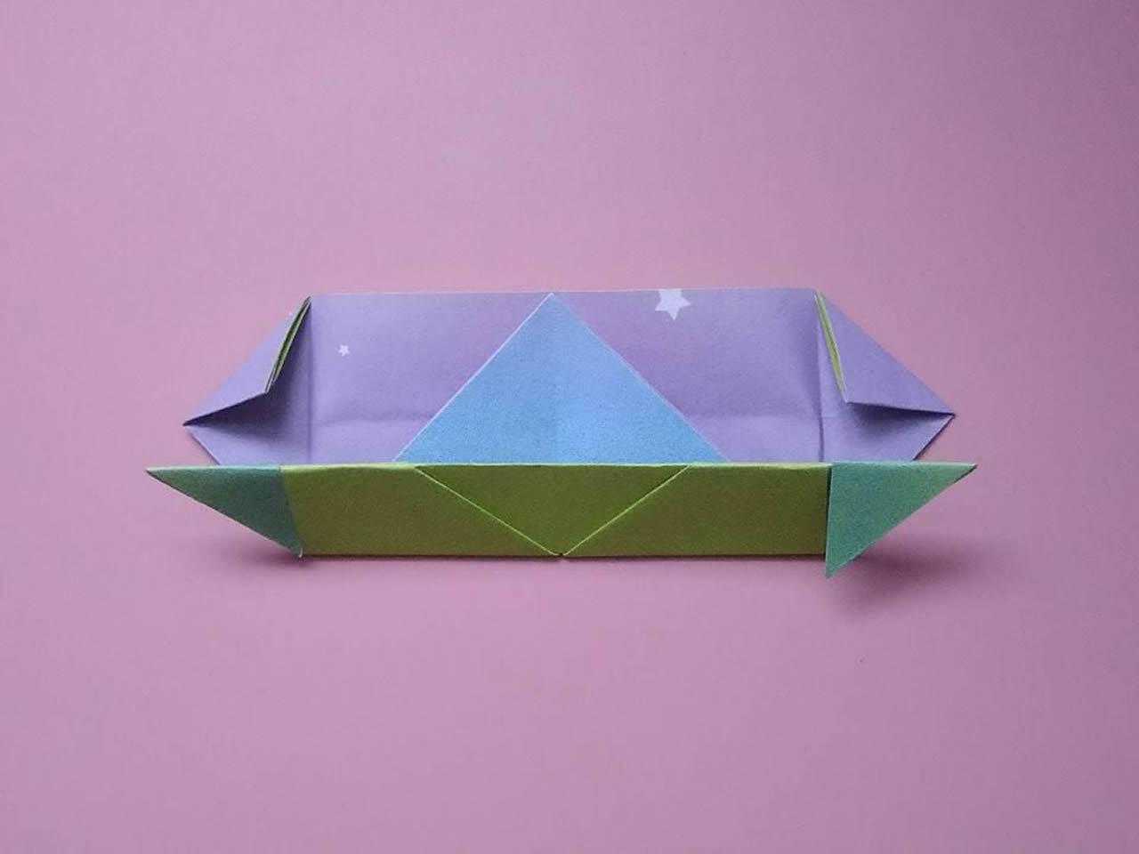 儿童折纸简单的小船折纸教程图解_学习啦