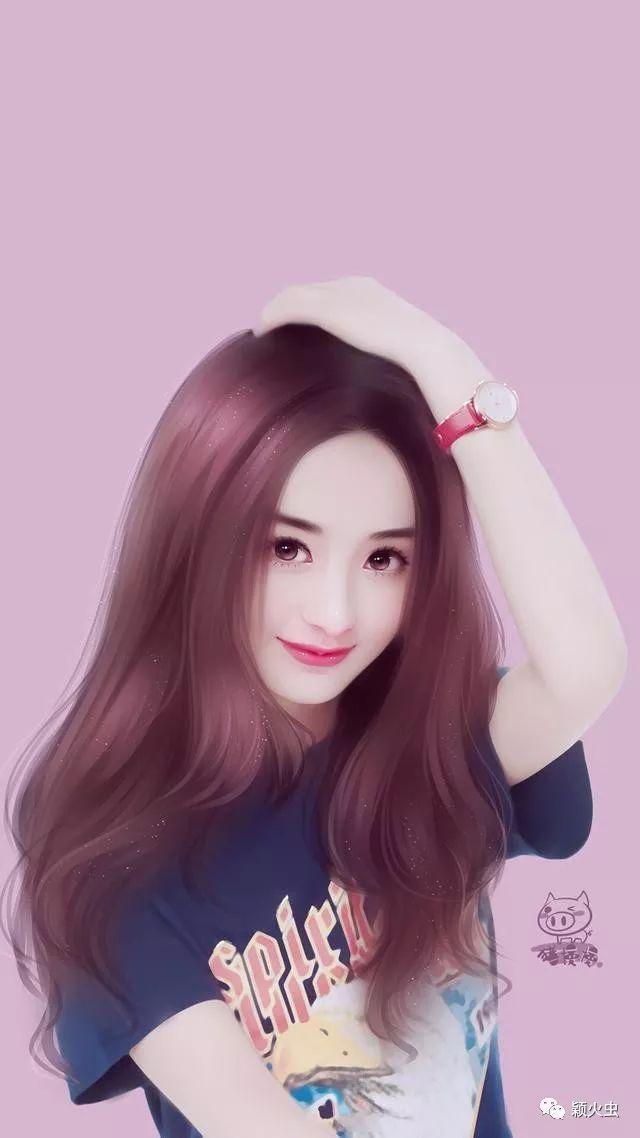 手绘版的赵丽颖 看起来真的很有灵气 适合做头像
