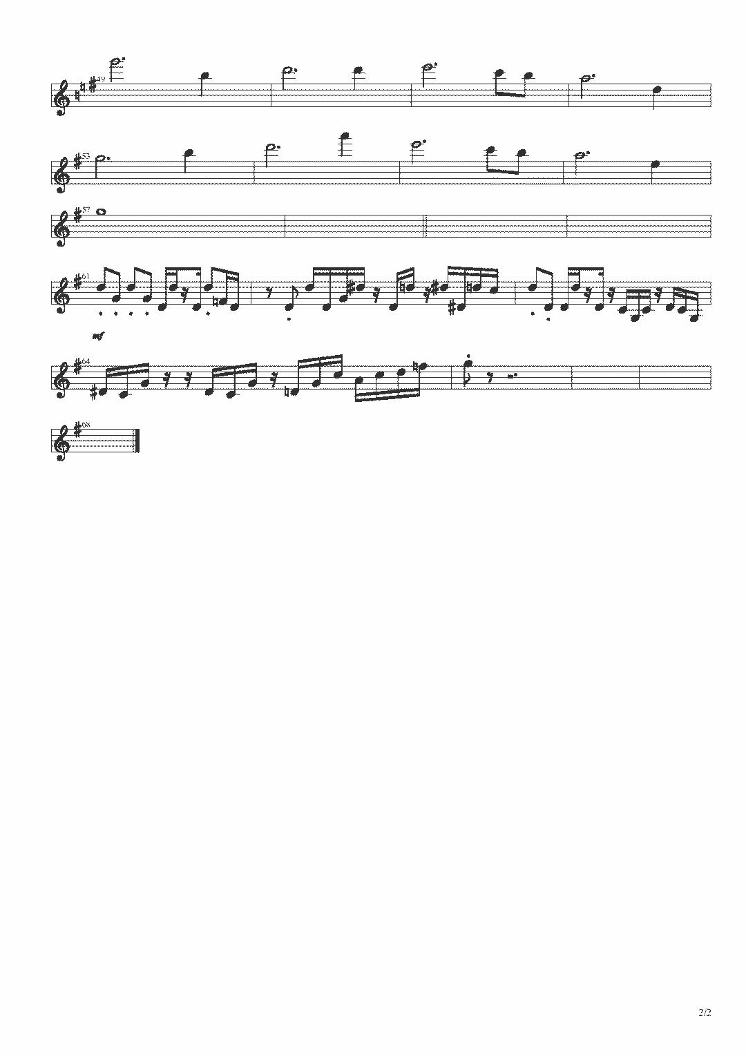 陈蓉晖《情深无边》附小提琴谱