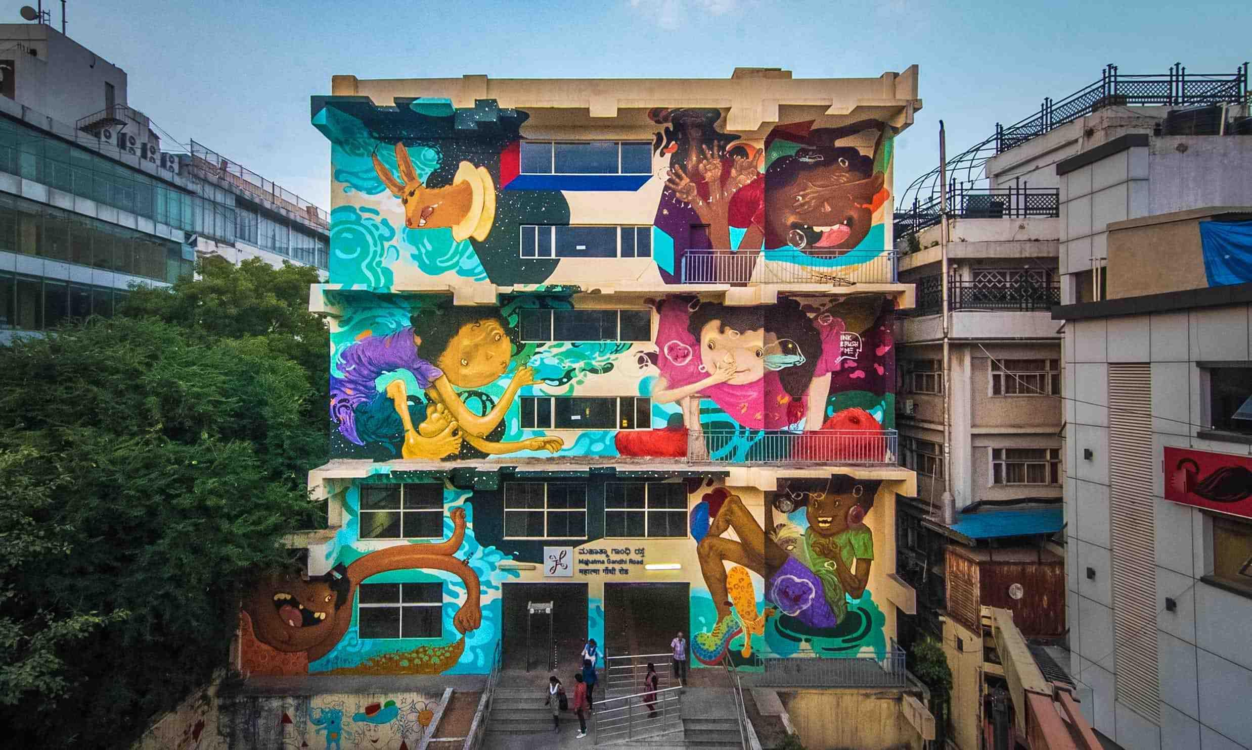 大壁画运动:印度的火车站正在发生天翻地覆的变化