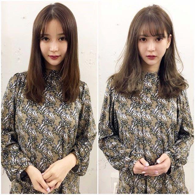 16位樱花妹直发变卷发前后对比,颜值不再被发型