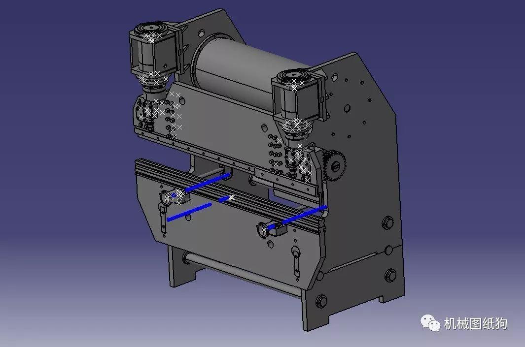 【工程机械】液压弯板机3d模型图纸 stp igs格式
