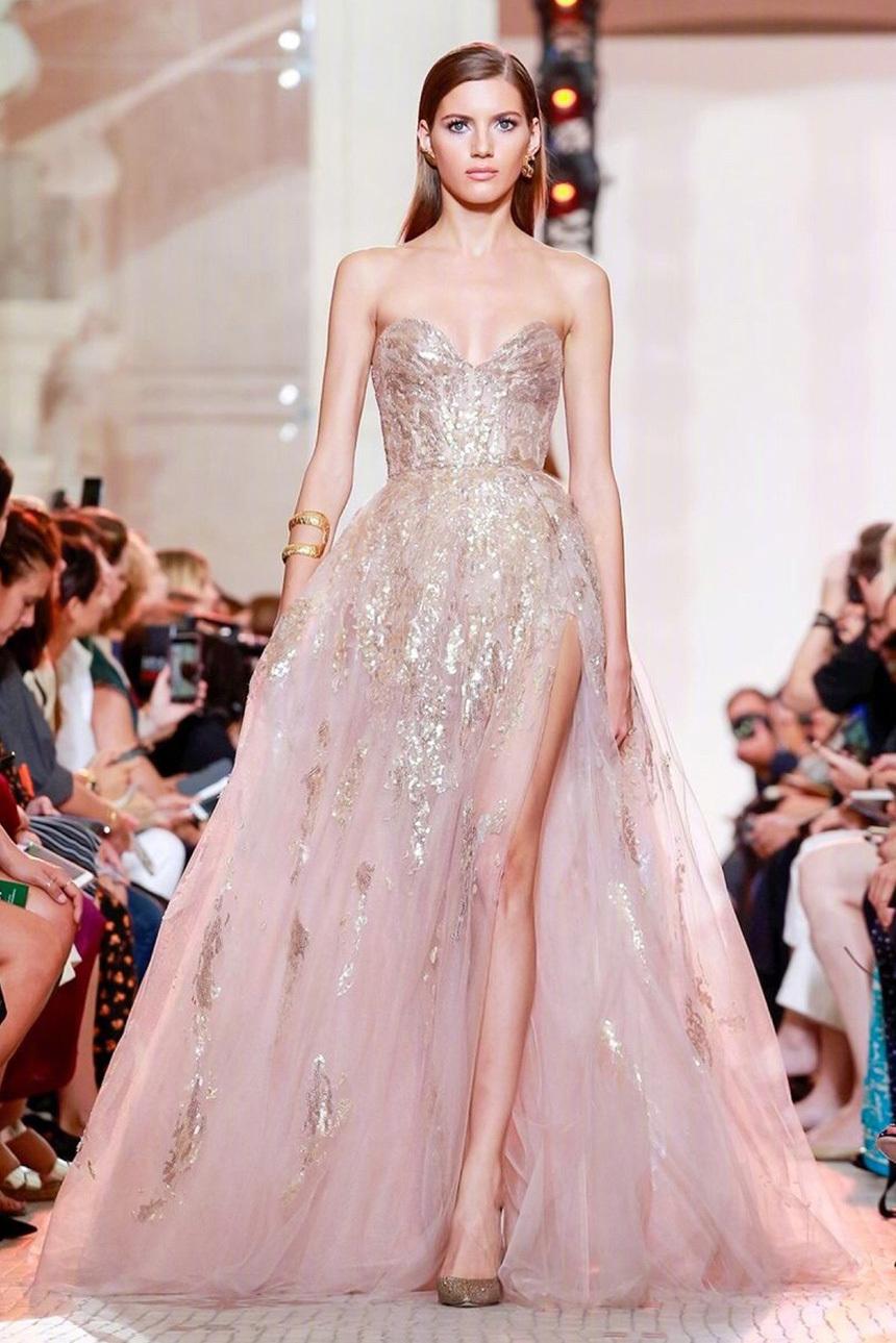 仙女裙与国模更配?Elie Saab巴黎高定秀场,五位中国模特登台走秀!