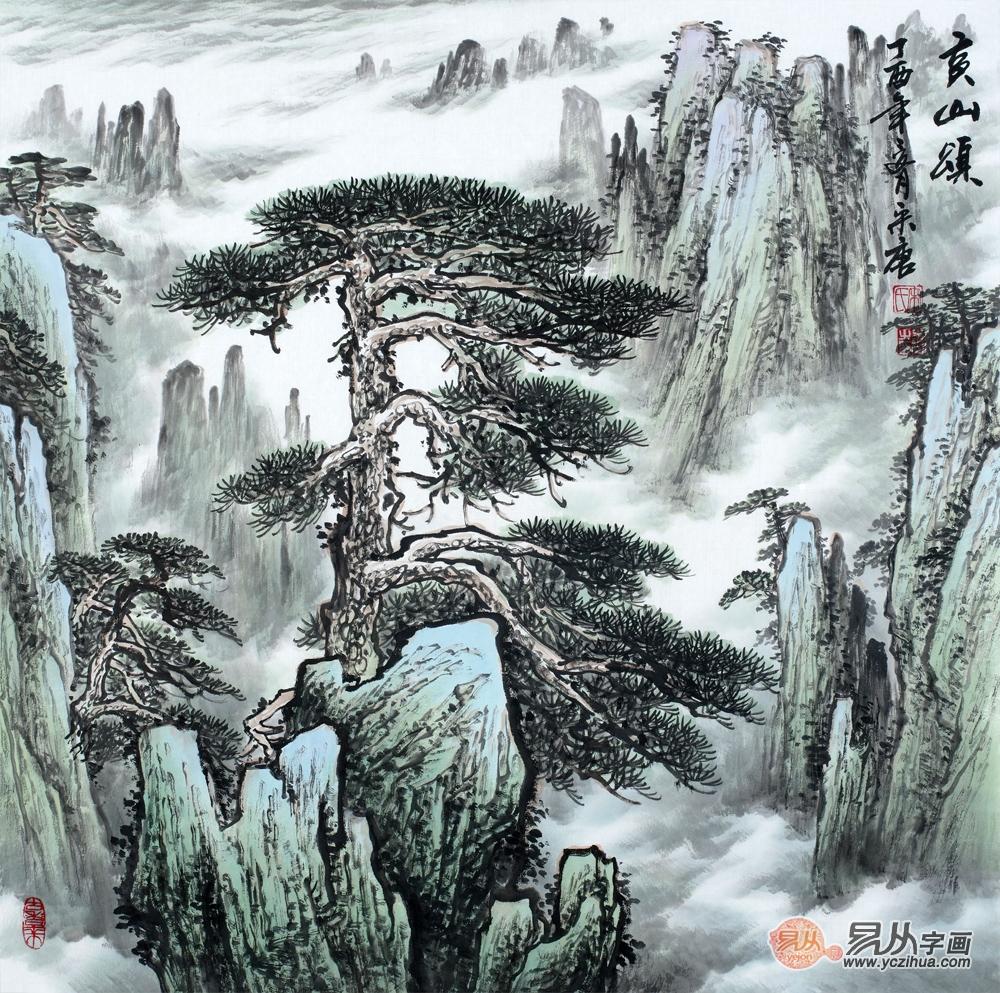玄关画装饰选择 艺术山水景色优美韵味雅致