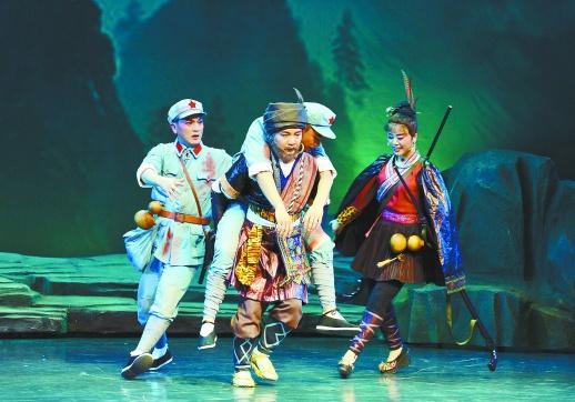 日夲阳_7月4日晚,革命历史题材剧上河阳戏《侗山红》在长沙市实验剧场
