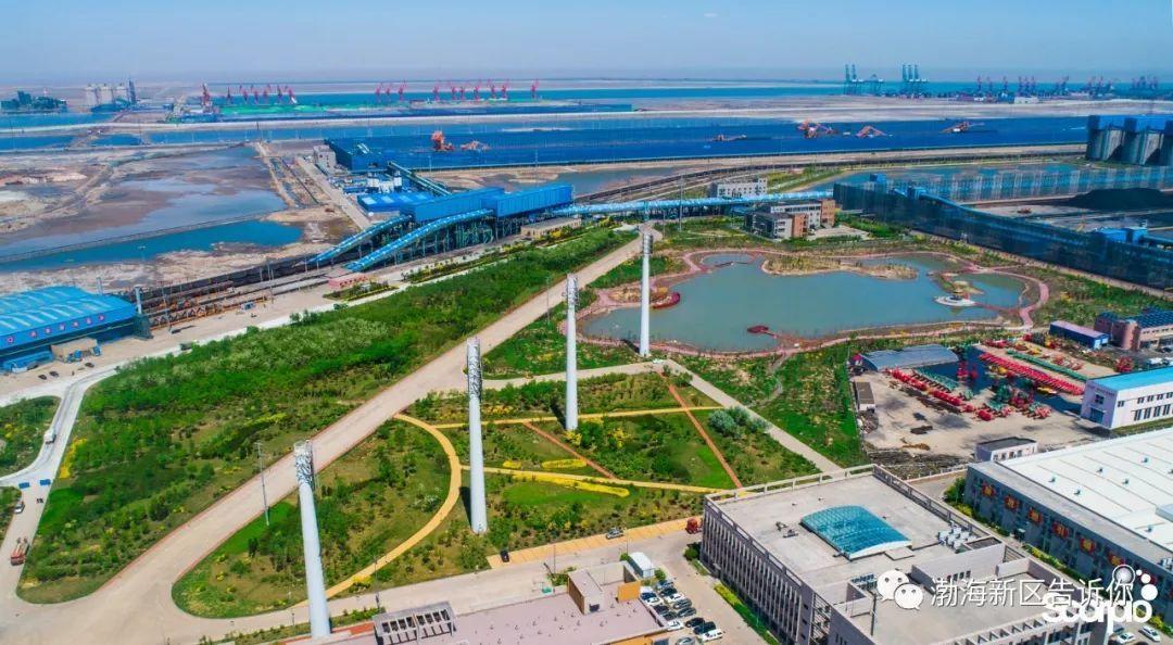 """共享碧水蓝天""""的环保理念,港口建设与环境保护同步推进,成绩斐然,在图片"""
