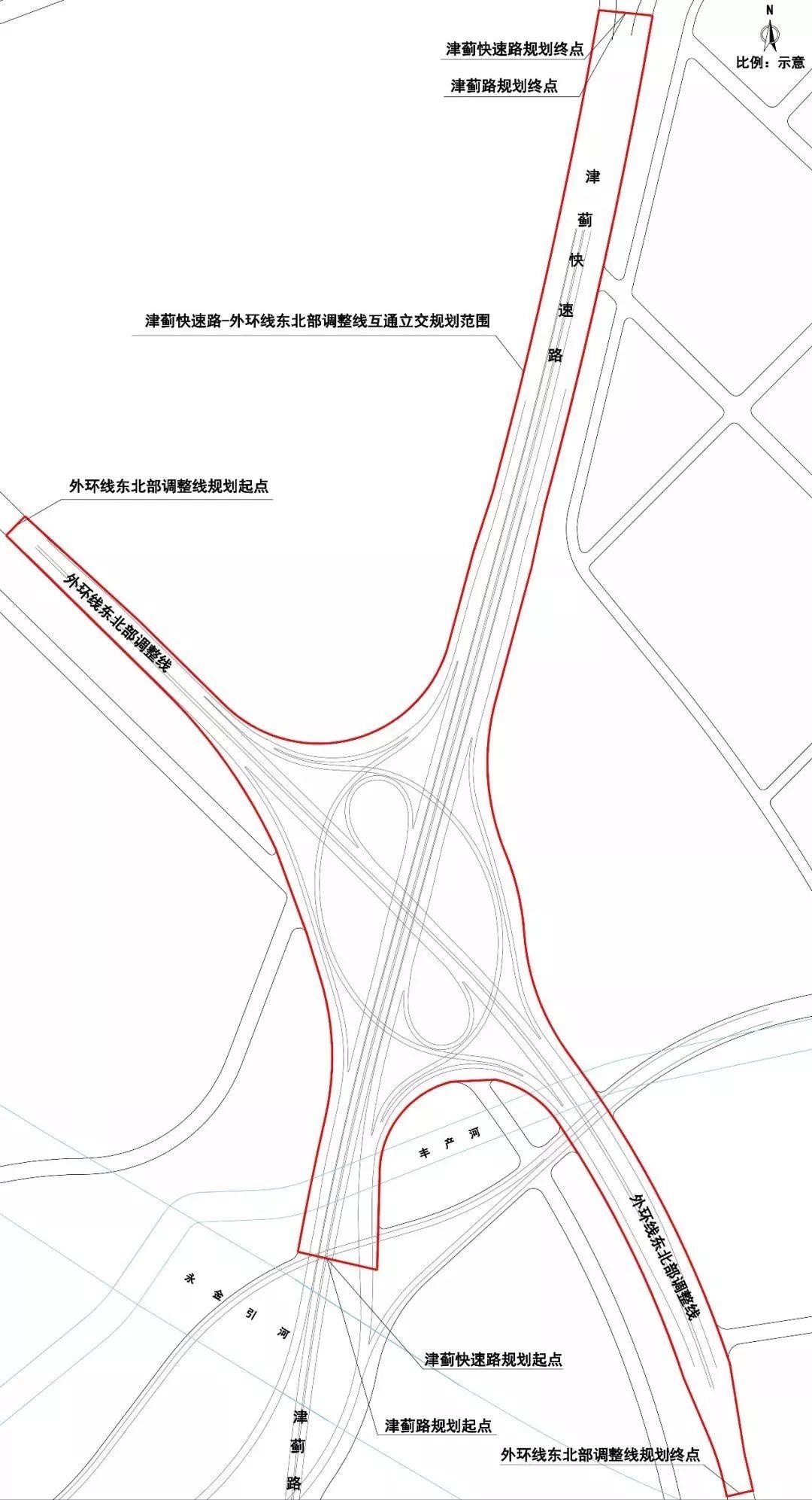 天津这个地方要建立交桥和快速路
