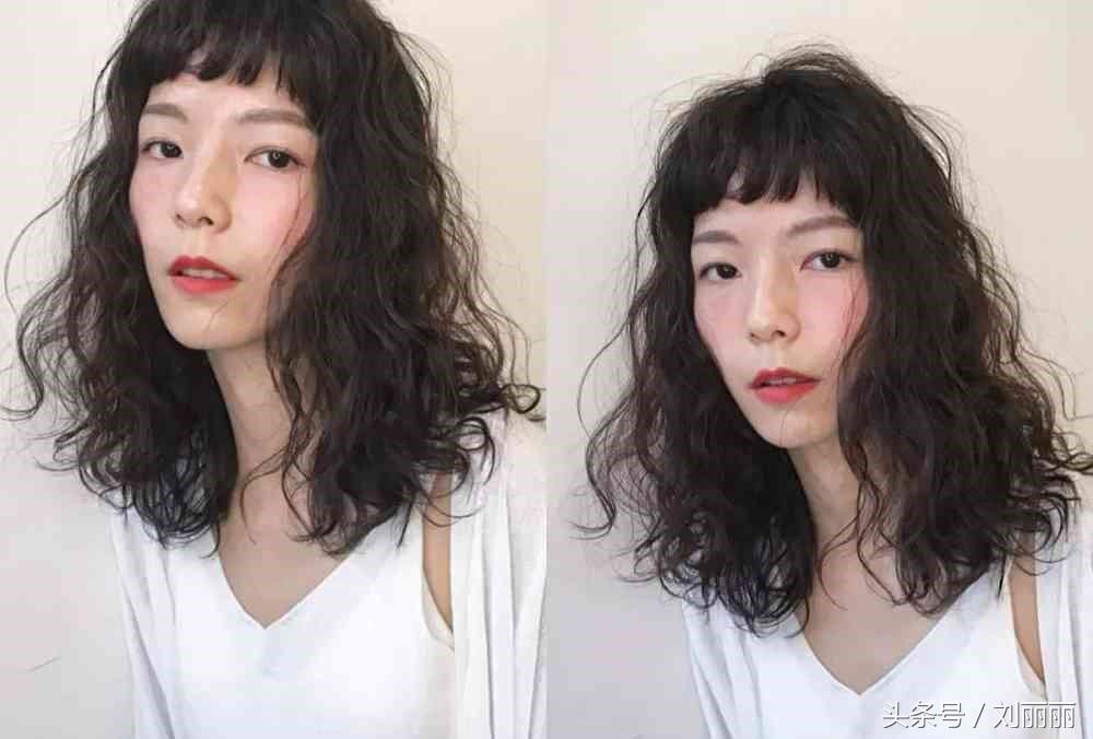 """2018""""方便面烫发""""最适合发量少的女生图片"""