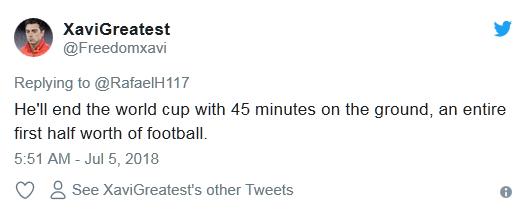 内马尔世界杯14分钟倒地翻滚遭网友吐槽:他需要婴儿学步椅的照片 - 4