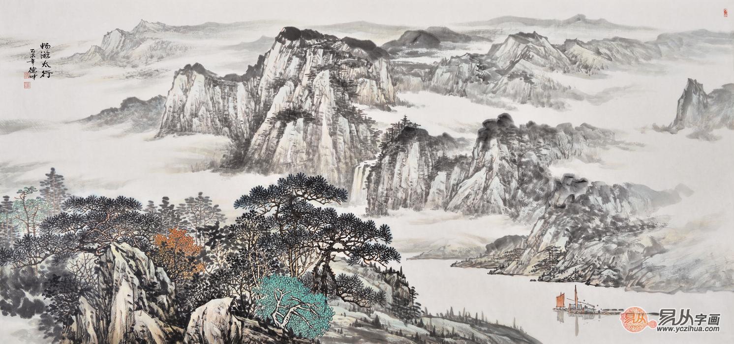 中国山水画|客厅山水装饰画集锦