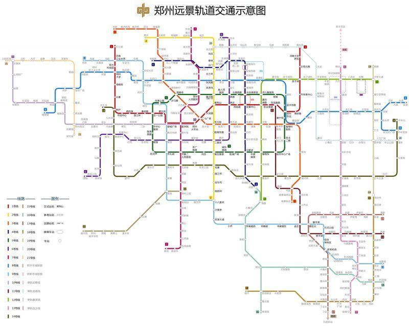 (郑州地铁规划图)