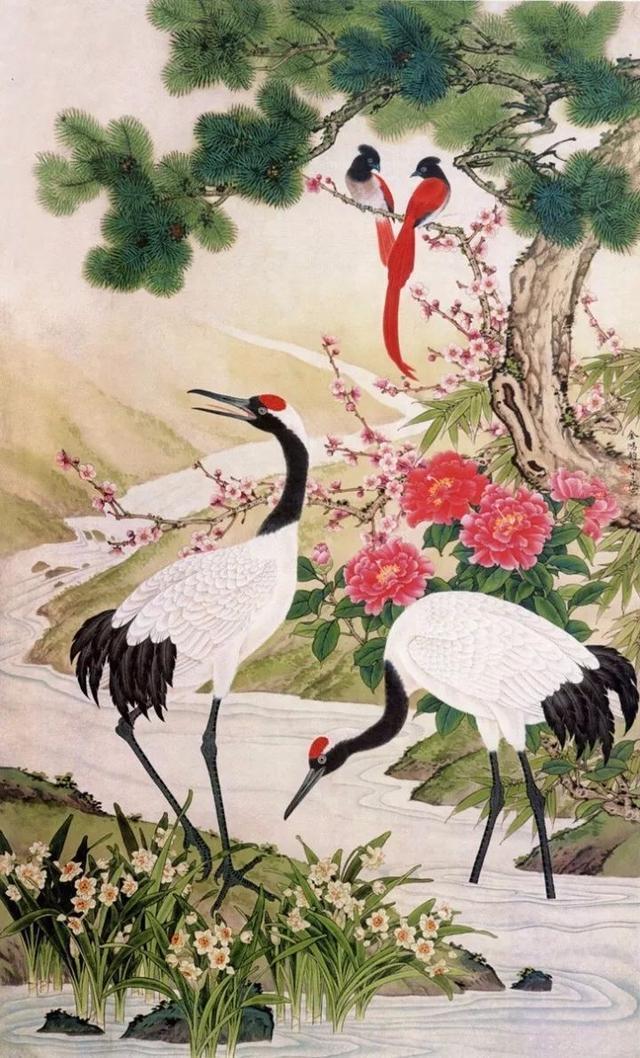 中央美术学院国画系教授金鸿钧工笔花鸟作品欣赏