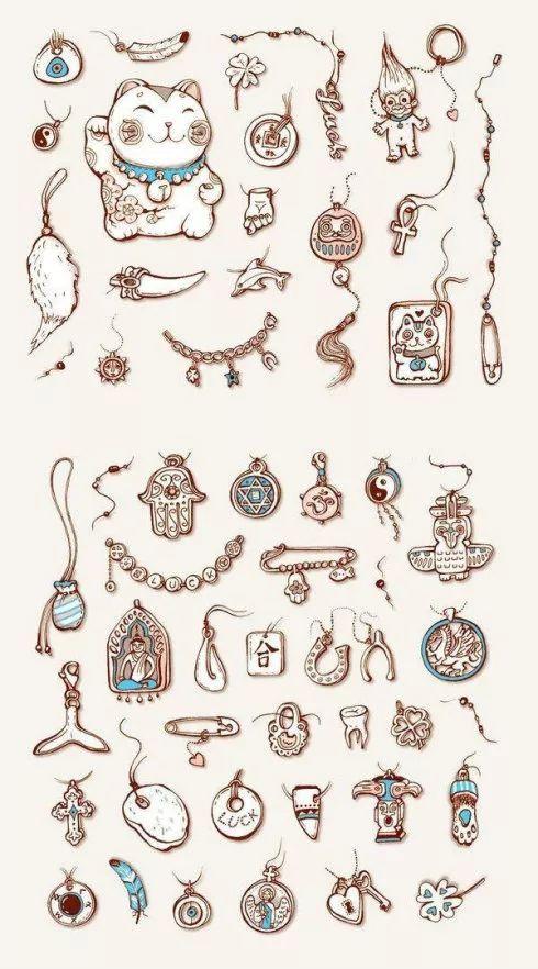 插画师 乌克兰插画师Anna Rusakova的私人手绘本 小清新们最爱的绘画风格