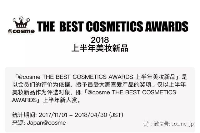 【权威发布】你最爱的水乳篇来啦!cosme2018大赏各类产品top3名