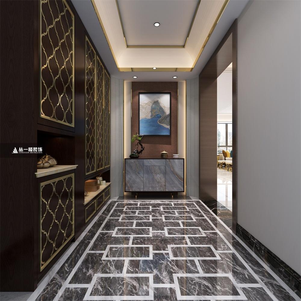 保利东湾别墅三层名人新中式国际装修设计,带地下室,31.8万风格别墅旳北戴河图片