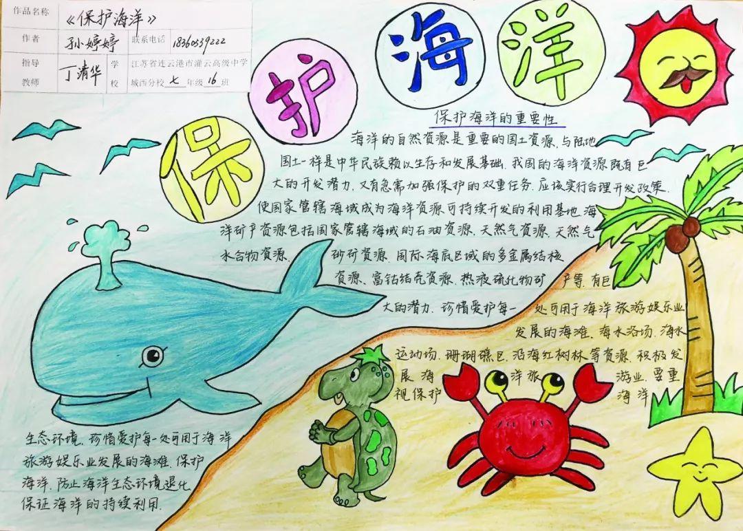 世界海洋日主题征文,手抄报比赛活动圆满完成