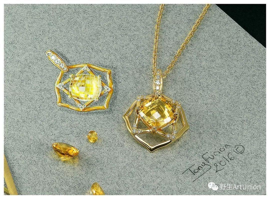 1000张珠宝首饰设计步骤图/线稿/彩铅/水彩/素描手绘素材免费领取!图片
