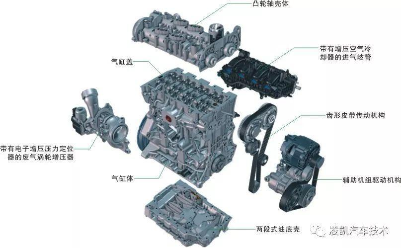 4t发动机的a3及q3 故障现象:发动机冷启动后,油底壳区域有