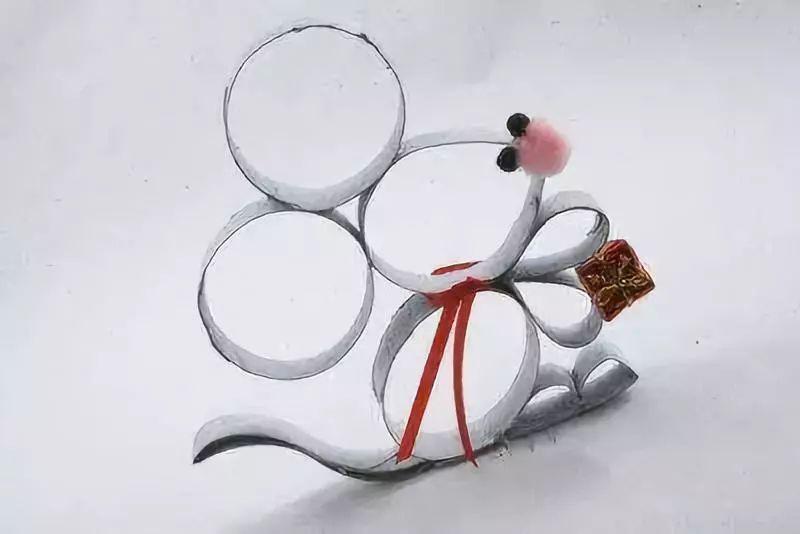 【创意手工】幼儿园创意亲子手工教程,机灵的小老鼠